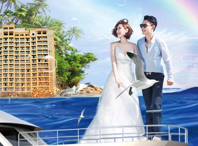 青岛旅行社排名-青岛到海口、三亚、蜈支洲岛、南山寺、天涯海角双飞六日游 豪华游艇出海